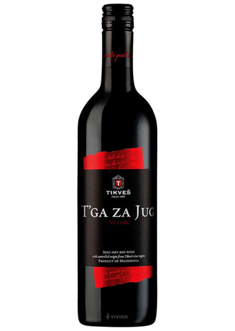 Tikves - T'ga za jug semi dry red wine 13% vol. Alcohol 750ml
