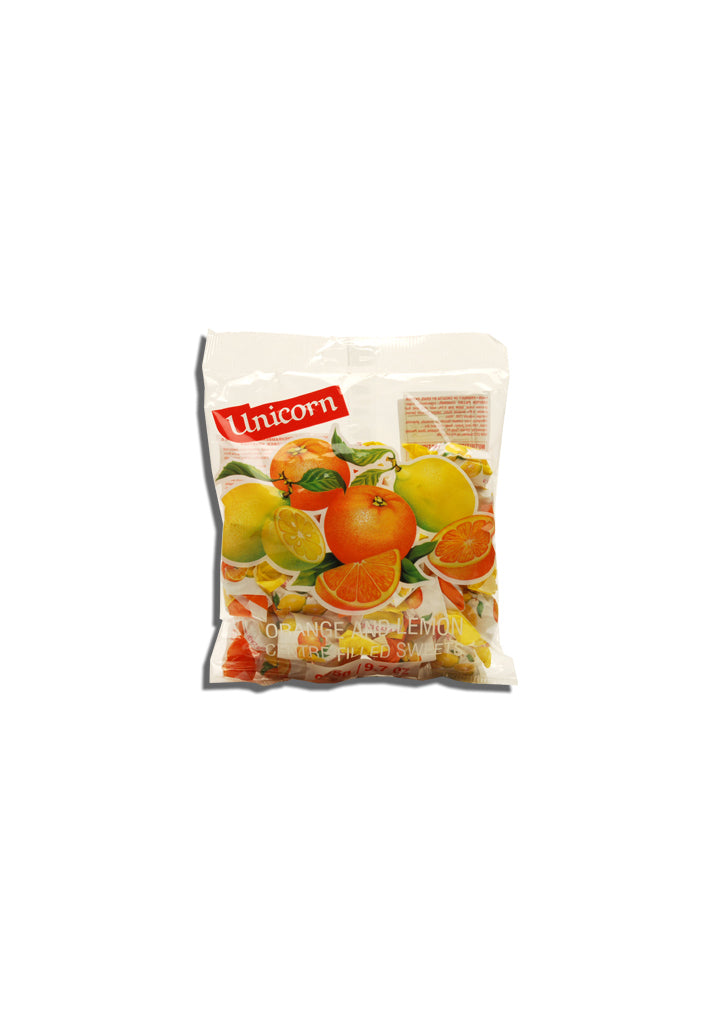 Unicorn - Orange and lemon hard candy  275g