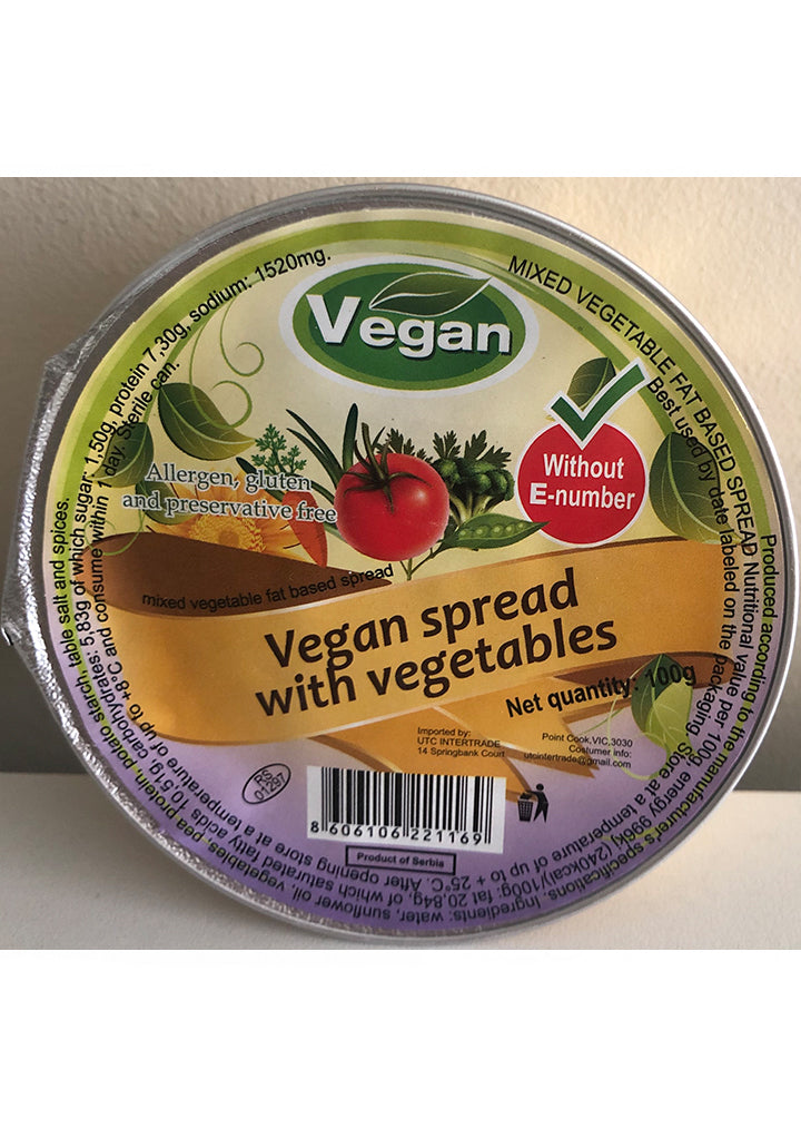Vegan - Vegan spread with vegetables 100g