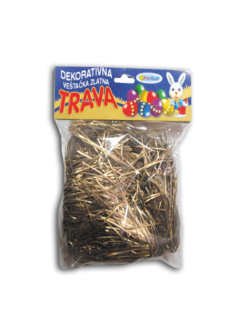 Easter - Decorative fake golden grass
