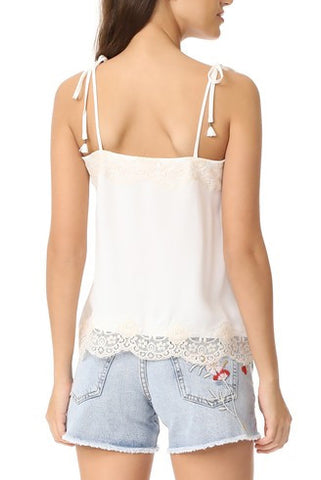 Trinity Lace Camisole - White