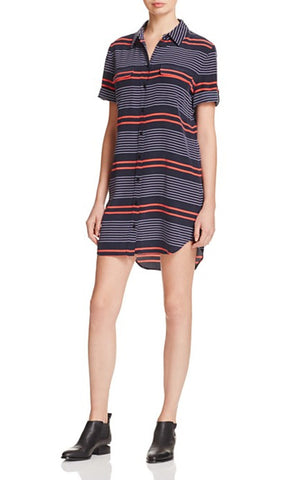 Stripe Shirtdress - Eclipse and Hibiscus