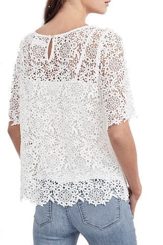 Colleen Lace Top - White