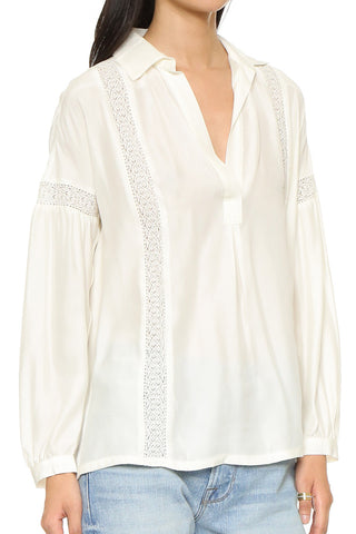 Lace Trim Top - Off White
