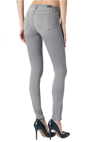 Paige Jill Zip Skinny Jean - Dove Grey - Poppy  - 2
