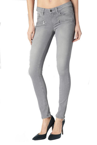 Paige Jill Zip Skinny Jean - Dove Grey - Poppy  - 1