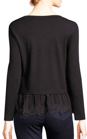 Terry Lace Top - Black