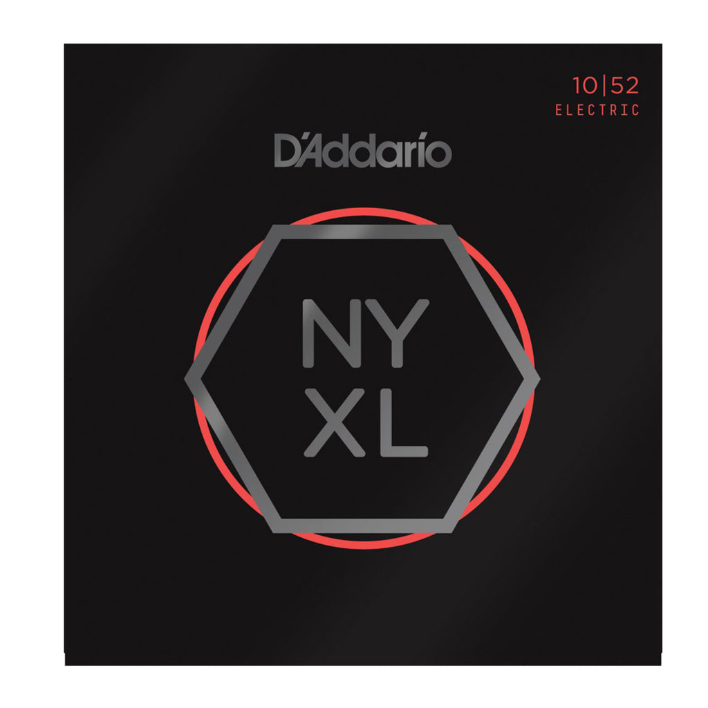 D'Addario NYXL1052 Nickel Wound Electric Guitar Strings, Light Top / Heavy Bottom, 10-52