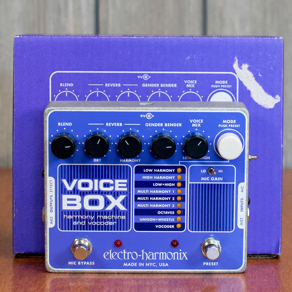Used EHX Voice Box Harmony Machine and Vocoder w/ Box & Power