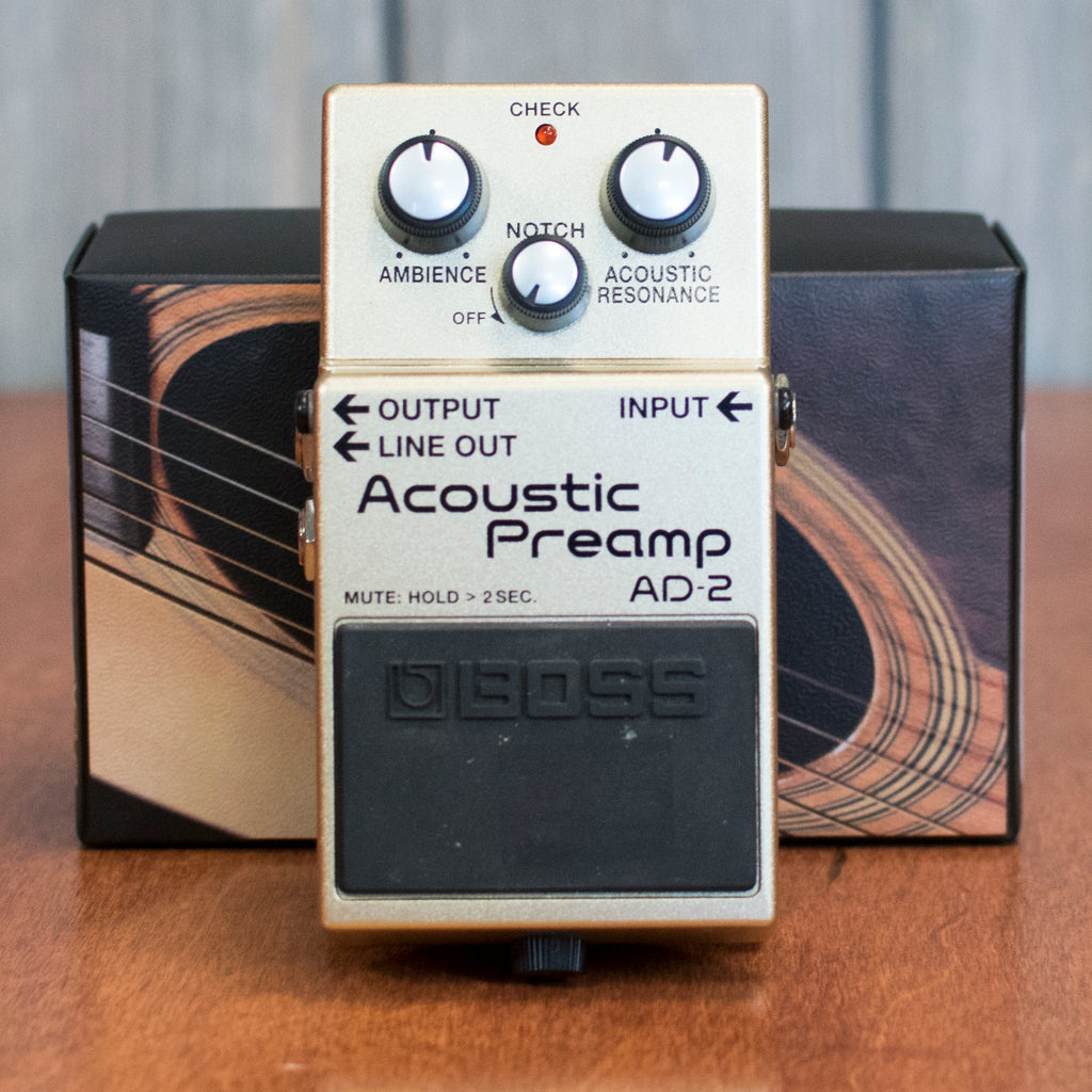 Used Boss AD-2 Acoustic Preamp w/ Box