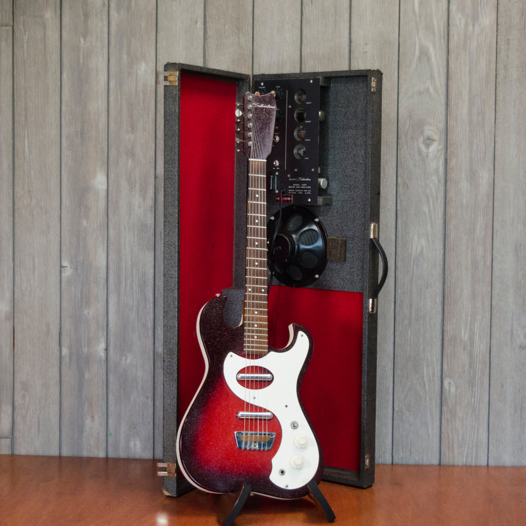Silvertone Model 1457 & Amp-In-Case (Vintage - 1960's)