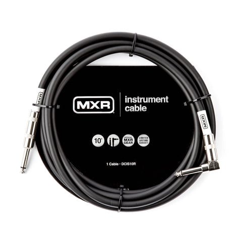 Planet Waves American Stage PW-AMSGRA-10 10' Right Angle to Straight Instrument Cable