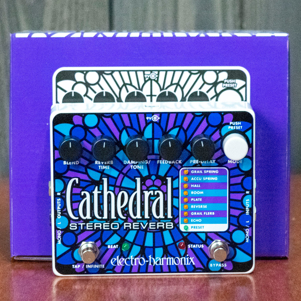 Used EHX Cathedral Stereo Reverb w/ Box & Power
