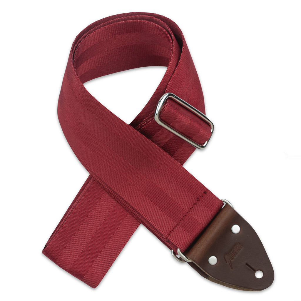 Original Fuzz Seatbelt Series Guitar Strap in Wine