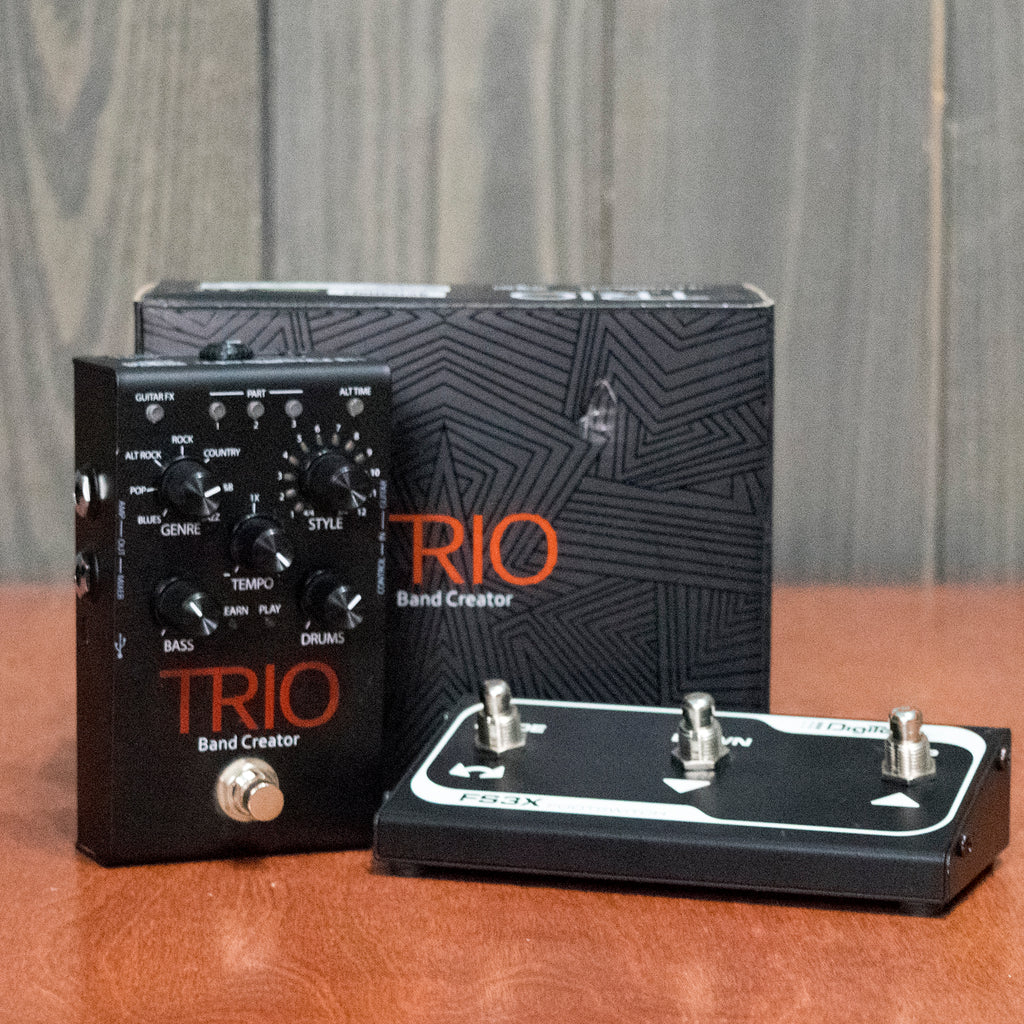 Used Digitech Trio w/ FS3X Footswitch & Box & Power Supply