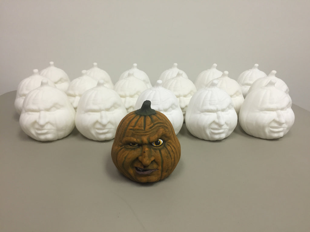 "Custom paint your own 3D printed ""Grumpy Pumpkin"" at MakerTree 3D ...."