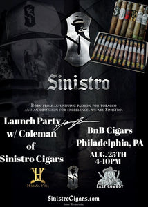 Sinistro and Habana Vieja Cigars Event