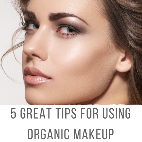 Antonym tips on using organic makeup