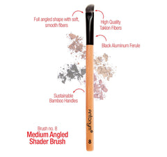 Med Angled Eye Shading Brush #8 - Antonym Cosmetics