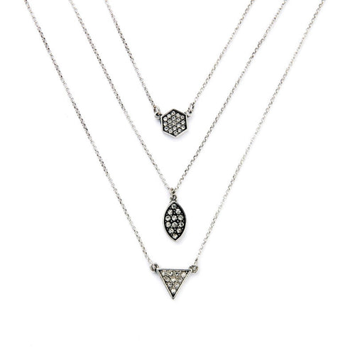 Multilayer Silver Necklace - Heiress Gems