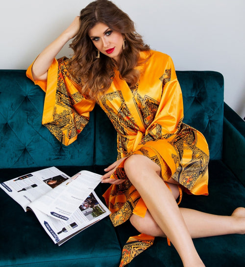 Zora Silk Robe - Heiress Gems