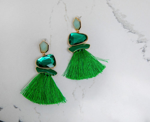 Goddess Drop Earrings - Heiress Gems