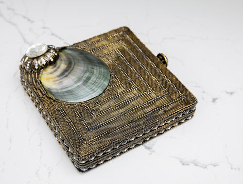 Mother Of Pearl Clutch - Heiress Gems