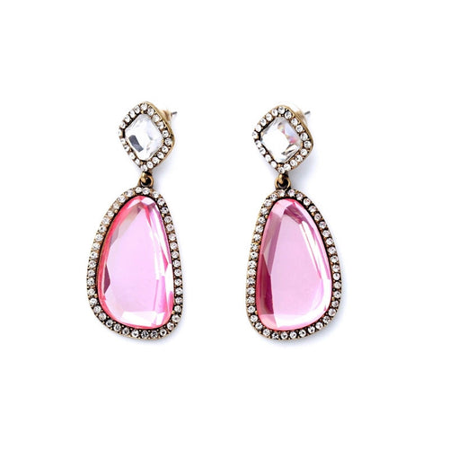 Rose Dangle Earrings - Heiress Gems