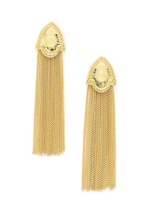 Armour Fringe Dangle Earrings - Heiress Gems