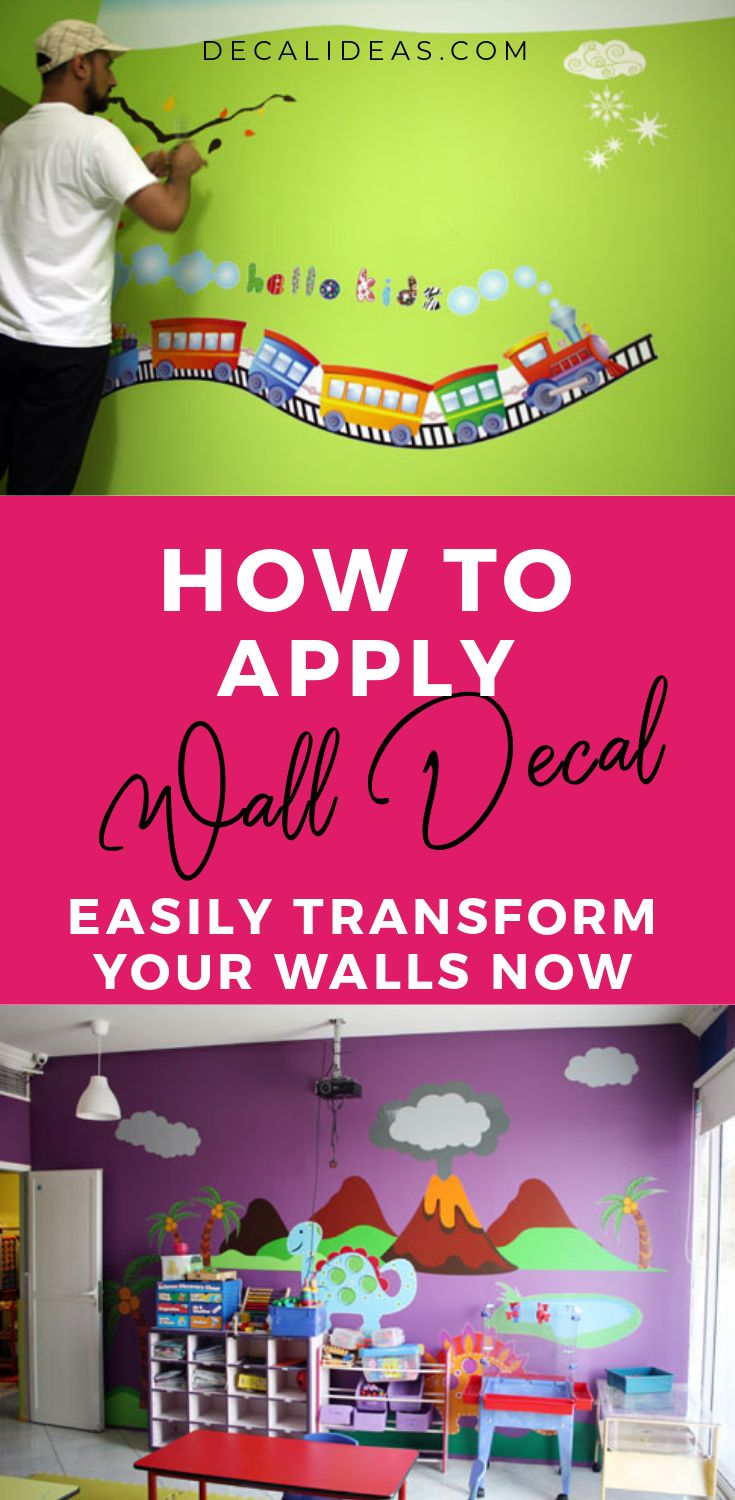 How to apply wall decals even if it is wrinkled