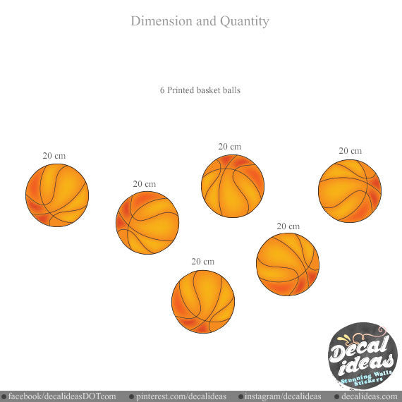 Sports Basketball Wall Decal 011-wd - Printed Decal