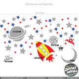 Space Galaxy Wall Decal 016-wd - Vinyl Decal - Decalideas Wall Decals