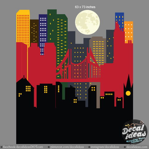Custom City Skyline Printed Decal Sticker for Eloise