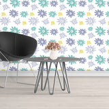 Removable Floral Wallpaper Peel And Stick, Flower Wallpaper, Floral Peel And Stick Wallpaper, Floral Wallpaper For Nursery Wall Decal Baby