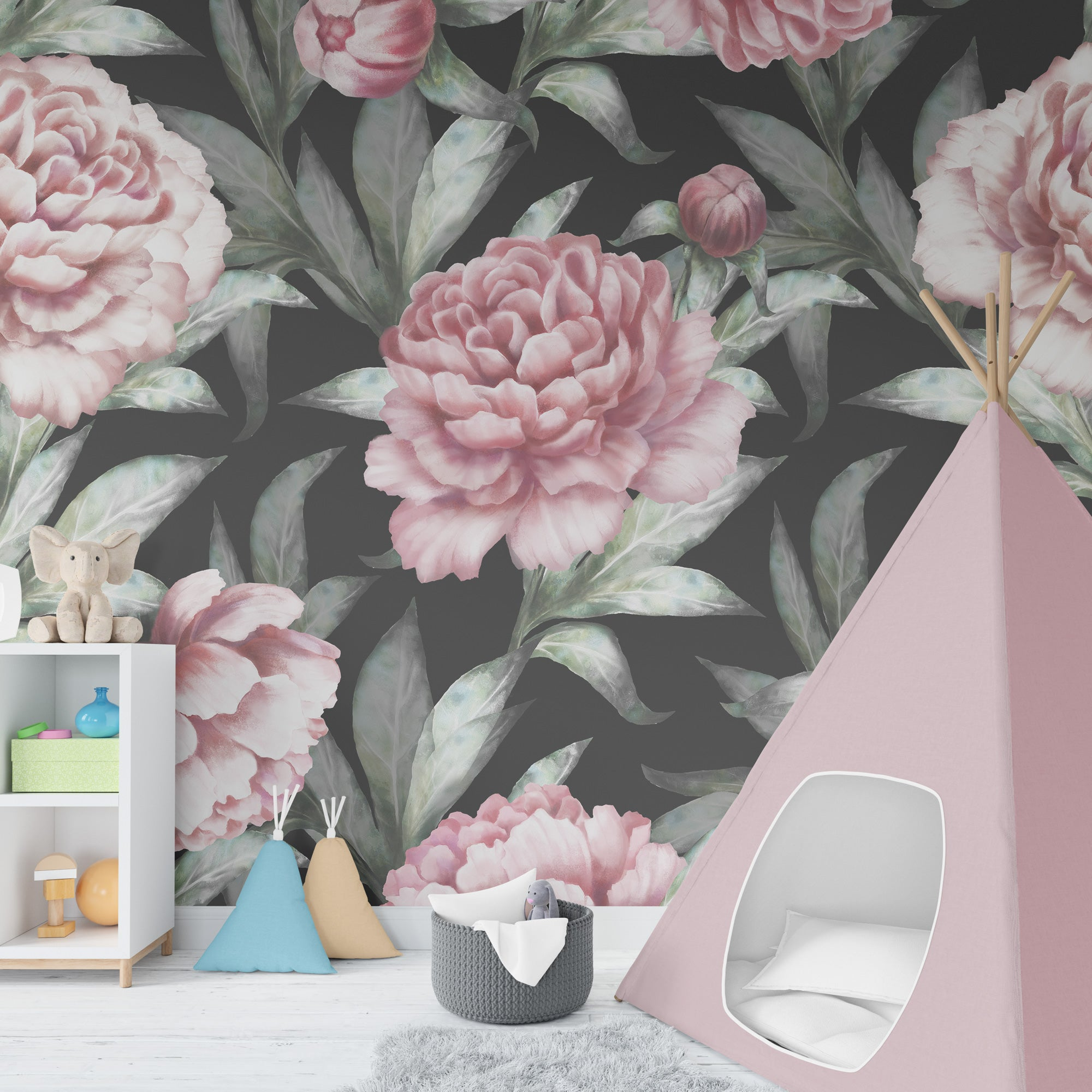 Floral Peel And Stick Wallpaper Floral Wallpaper For Nursery