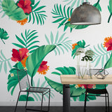 Removable Wallpaper Peel And Stick, Peel And Stick Wallpaper kids, Floral Peel And Stick Wallpaper, Floral Wallpaper For Nursery Wall Decal - Decalideas Wall Decals