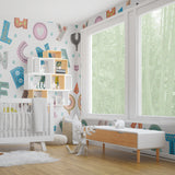 Floral Wallpaper For Nursery Wall Decal, Removable Wallpaper Peel And Stick, floral Peel And Stick Wallpaper, Kids Room Decor for Nursery - Decalideas Wall Decals