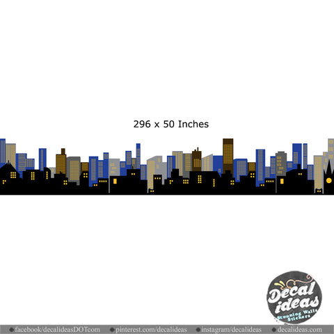 Custom City Skyline Wall Decal