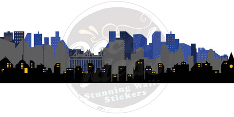 Custom City Skyline Wall Decal for Lilliana