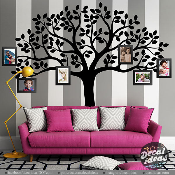 54599dd706c6 Family Tree Wall Decal - tree wall decal - Picture tree decal - wall d –  Decalideas Wall Decals