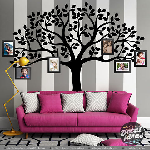 Family Tree Wall Decal - tree wall decal - Picture tree decal - wall decals for living room - wall decals for bedroom