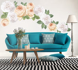 Floral Sticker Peel and Stick Custom Wall Decals - Decalideas Wall Decals