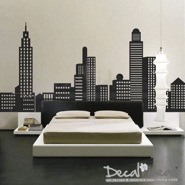 New York City - New York Skyline - City Skyline Decal - City Buildings Skyline - New York City Decal - Vinyl Wall Sticker P-50039-D - Decalideas Wall Decals