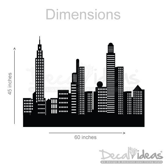 New York City - New York Skyline - City Skyline Decal - City Buildings Skyline - New York City Decal - Vinyl Wall Sticker P-50039-D