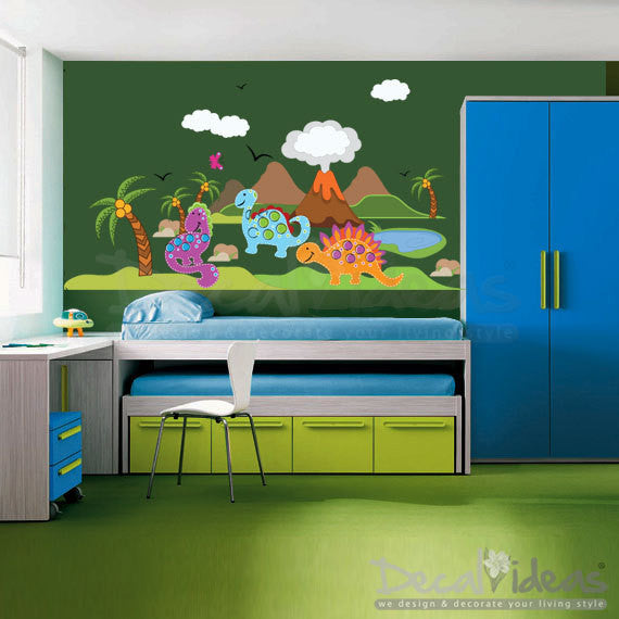 Dinosaur Peel and Stick Giant Wall Decals Custom - Decalideas Wall Decals