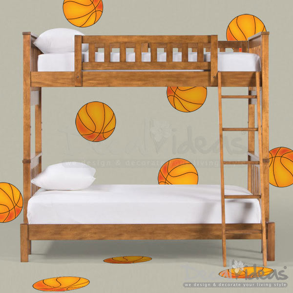 Sports Wall Decal - Basketball Stickers For Kids- Boys Wall Decal P-50028-D - Decalideas Wall Decals