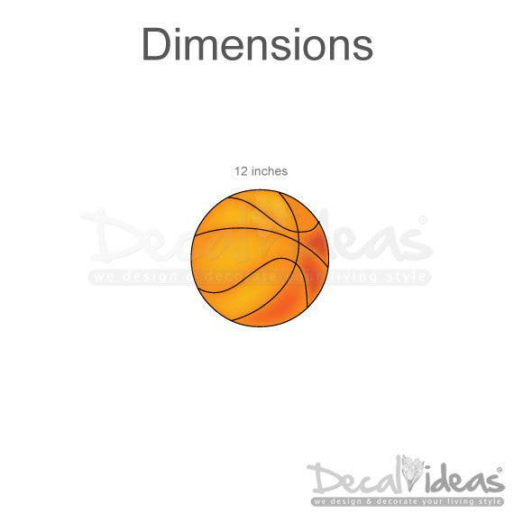 Sports Wall Decal - Basketball Stickers For Kids- Boys Wall Decal P-50028-D