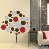 Poppy Tree Vinyl Wall Decal Sticker - Poppy Bunch - Circles - Round - Bubbles - Modern Decal - Tree Vinyl Wall Decal Art
