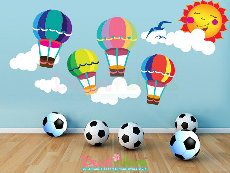 Hot Air Balloon Nursery Wall Decal Printed Wall Decals Hot Air