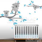 Koala Nursery Wall Decal - Koala Wall Decal - Koala Tree Wall decal - Koala Kids Room wall decor - Nursery Wall Stickers